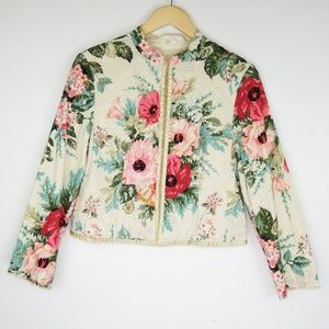 J Jill limited edition jacket No 34 floral XSP